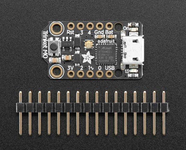 超小型Arduino互換ボード Trinket M0  for use with CircuitPython & Arduino IDE