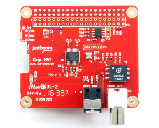 JustBoom Digi HAT for the Raspberry Pi デジタル出力ボード