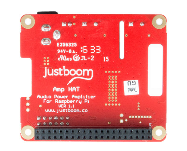 JustBoom Amp HAT for the Raspberry Pi アンプボード