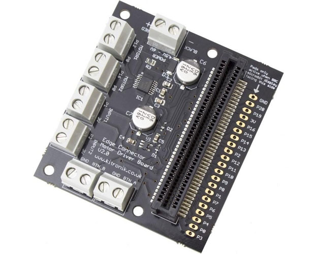 Kitronik Motor Driver Board v.2 for the BBC micro:bit / マイクロビット モータードライバーボード V.2