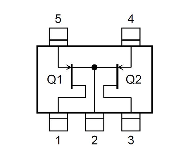 Nチャンネル低周波低雑音増幅用デュアルFET 2個入