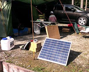 自作 ソーラー パネル 複数接続したソーラーパネルの電圧と電流の関係