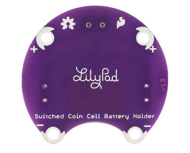 LilyPad Coin Cell Battery Holder - Switched - 20mm / リリパッド スイッチ付コイン電池ホルダー